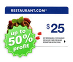 $25 Restaurant Discount Card